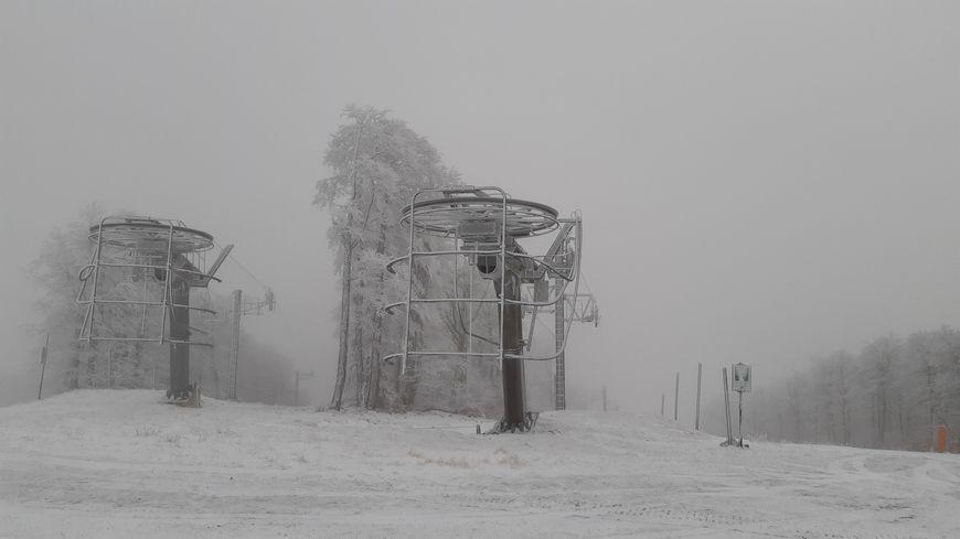 La station Val d'Aigoual sous la neige