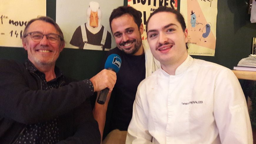 Olivier Remaury(Olivier Gastronomie), Nicolas Grandmaison et Tanguy Perales(restaurant Midi-Minuit)