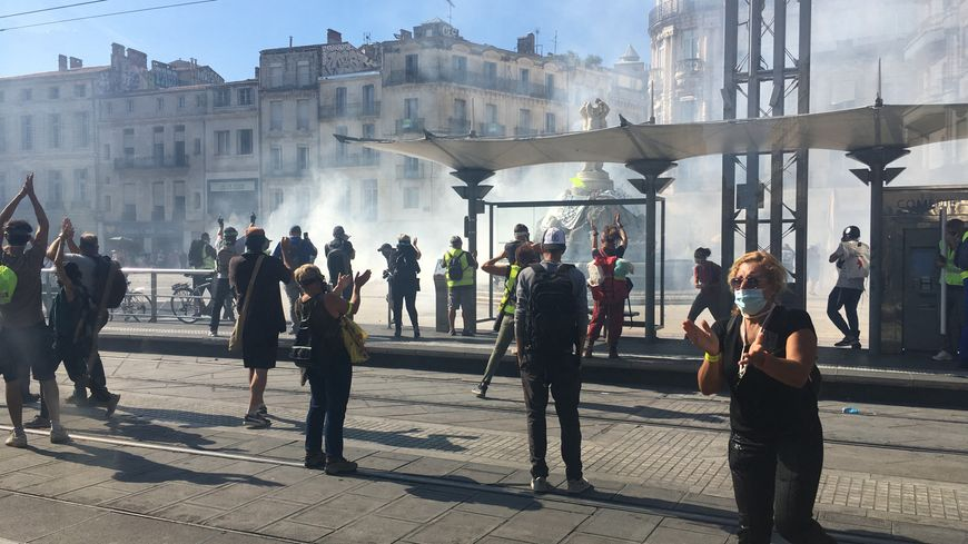 Illustration.Gilets jaunes et forces de l'ordre se sont régulièrement affrontés lors des manifestations du samedi