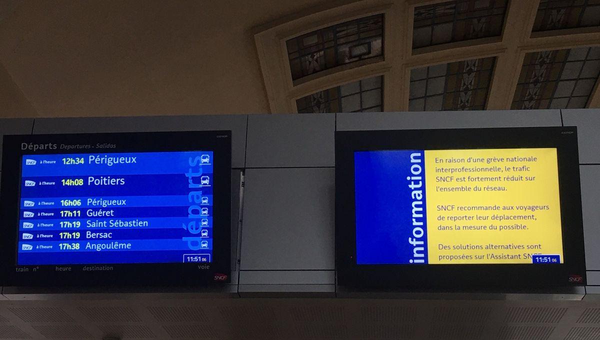 Grève du 9 décembre : les prévisions pour le trafic SNCF en Limousin