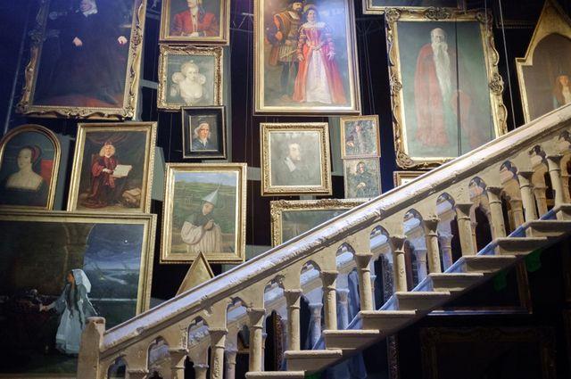 Réplique d'un des escaliers de la saga Harry Potter