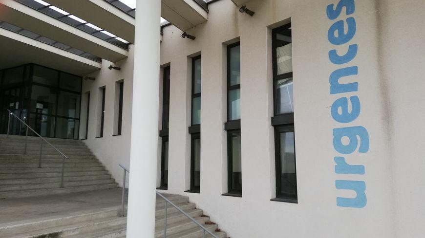 L'entrée du service des urgences de l'hôpital de Romans-sur-Isère dans la Drôme.