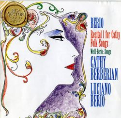 Folk songs : La lune s'est levee / Pour mezzo soprano et orchestre - CATHY BERBERIAN