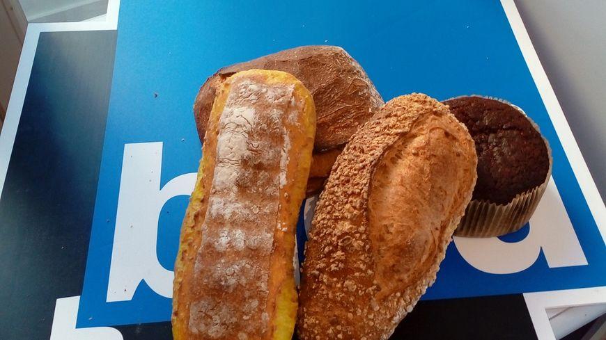 Du pain au maïs nature, maïs épicé, du pain de campagne et du pain d'épices