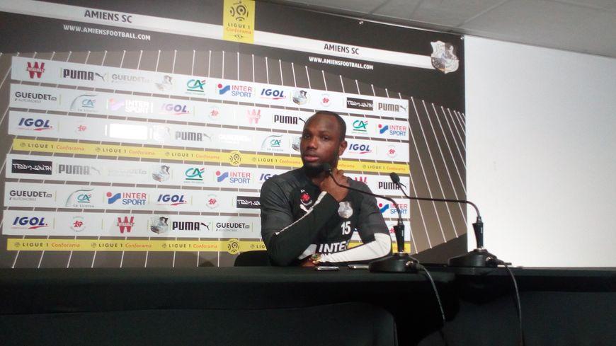 Moussa Konaté, attaquant de l'Amiens SC