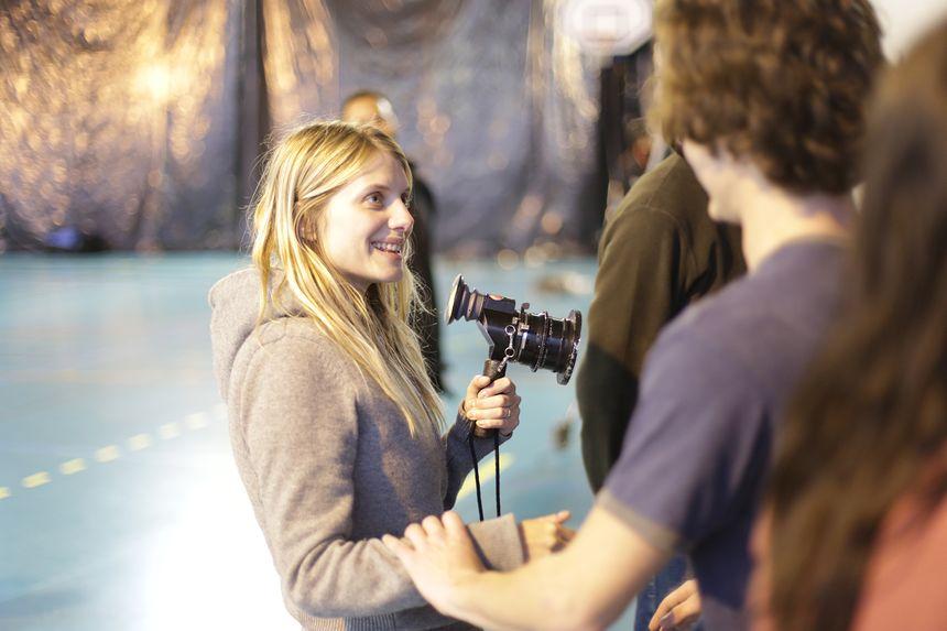 Mélanie Laurent sur le tournage de Respire, dans l'Hérault -