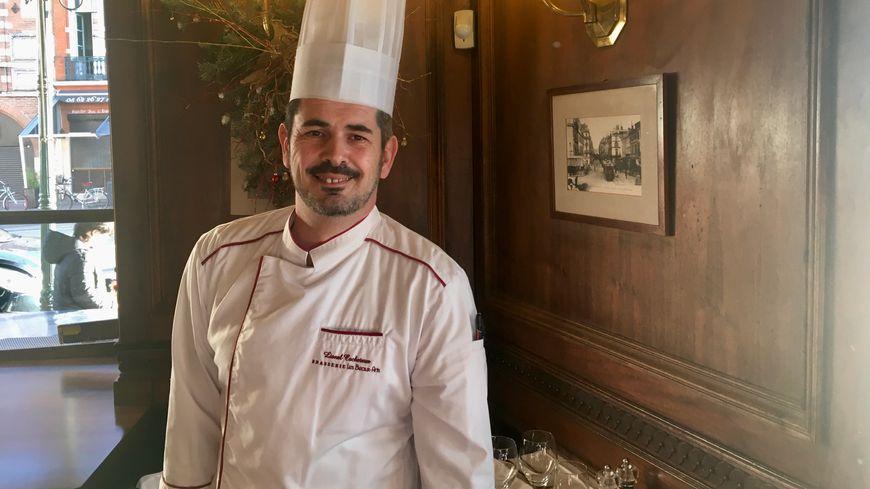 Lionel Cocheteux, chef de cuisine à la brasserie des Beaux Arts à Toulouse.