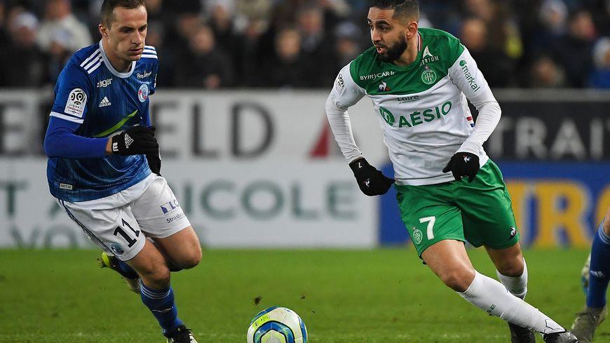 Ryad Boudebouz a inscrit son premier but avec l'ASSE