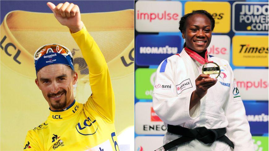Le cycliste Julian Alaphilippe et la judoka Clarisse Agbegnenou élus meilleurs sportifs français de l'année 2019.