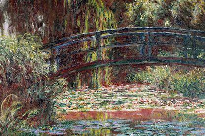 Peinture de Claude Monet, Le Jardin d'eau à Giverny, 1900