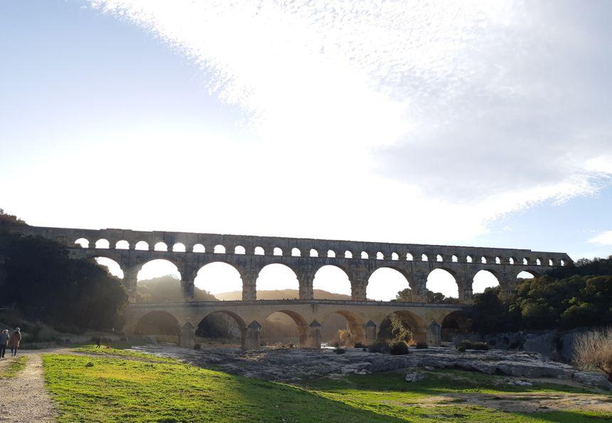 Soleil d'hiver au dessus du Pont