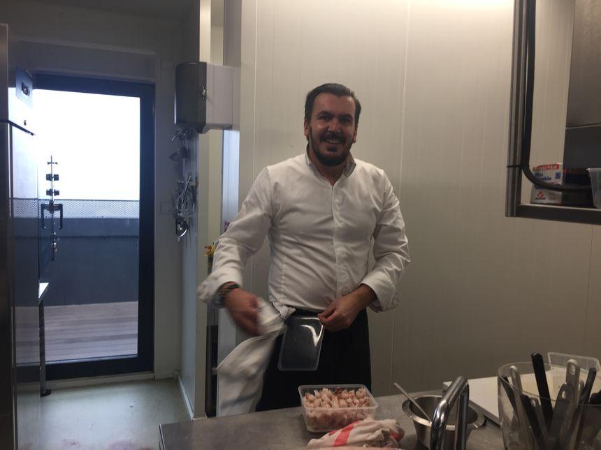 Olivier Godechoul, le chef cuisinier du restaurant La Vue (Hôtel Le Pier) à Toulouse