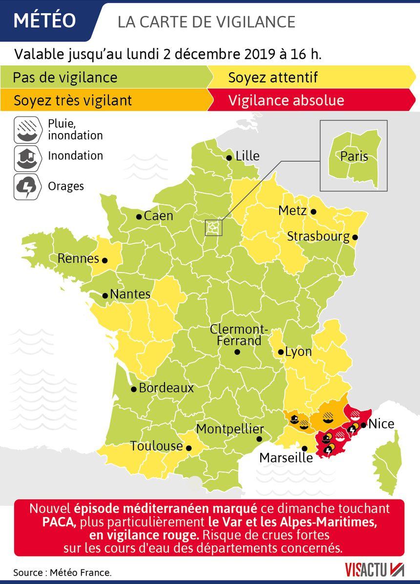 Le Var et la Vaucluse en vigilance rouge