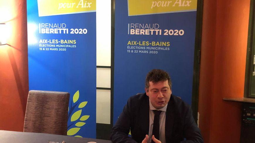 Renaud Beretti, le maire sortant d'Aix-les-Bains et candidat à sa réélection.