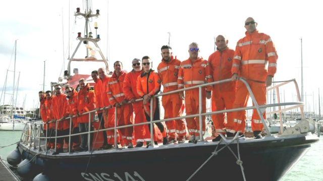 Les bénévoles de la SNSM Grau-du-Roi - Port Camargue.