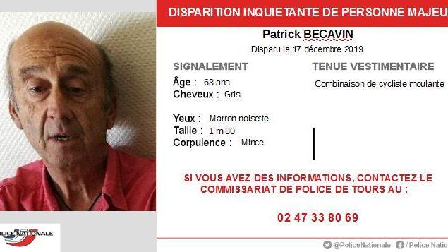 L'homme a disparu en tenue de cycliste depuis mardi 17 décembre