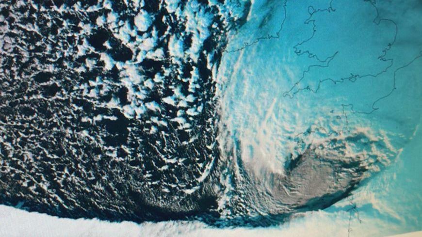 Tempête Martin vue du ciel