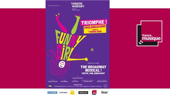 """Funny Girl"" au Théâtre Marigny du 7 novembre 2019 au 7 mars 2020"