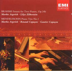 Sonate en fa min op 34b : Finale - pour piano et quatuor a cordes / version pour 2 pianos - MARTHA ARGERICH