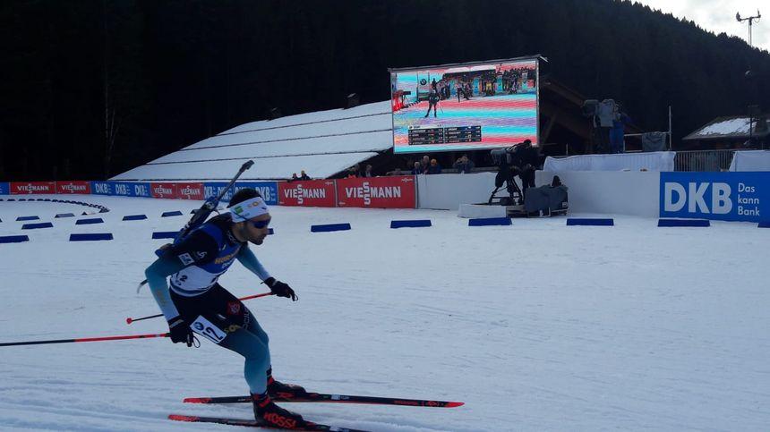 Martin Fourcade dans la course