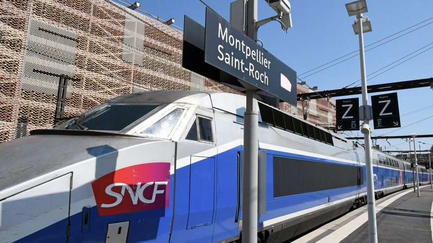 TGV en gare de Montpellier