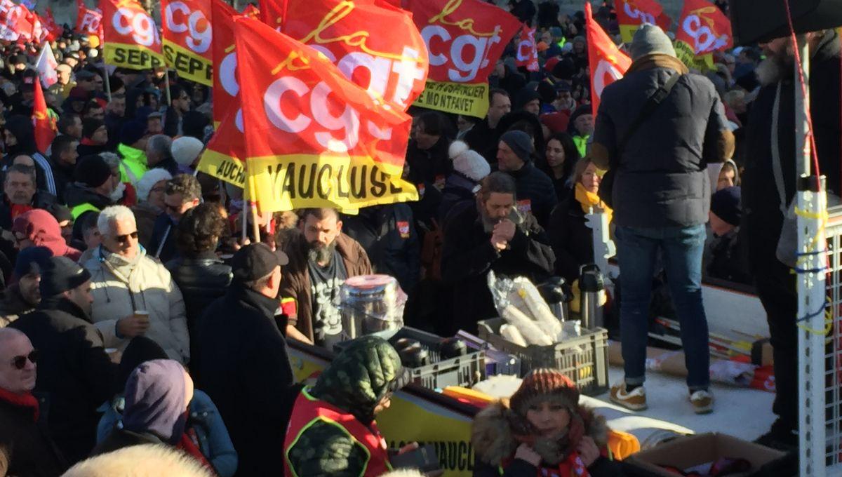 Réforme des retraites : la mobilisation en légère baisse à Avignon