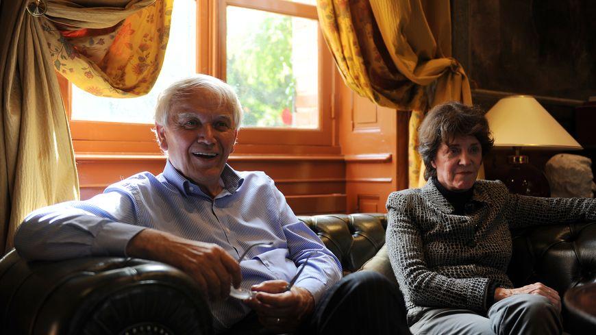 Dominique Boulard aux côtés de son mari, l'ancien maire du Mans Jean-Claude Boulard, en 2014, peu après l'élection de ce dernier au Sénat