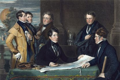 Préparation d'un voyage en ballon entre Londres et Weilburg en 1836