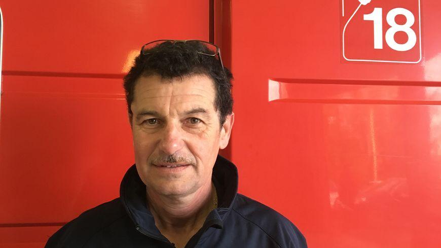 Laurent Courty, Chef de centre de secours de Pontarion