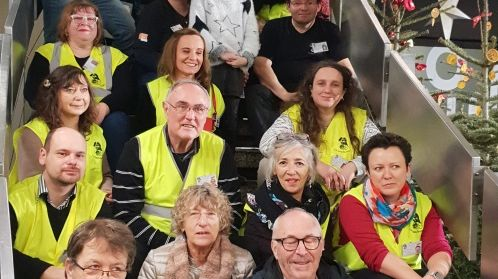 Des bénévoles de l'association Saints Bernard 67