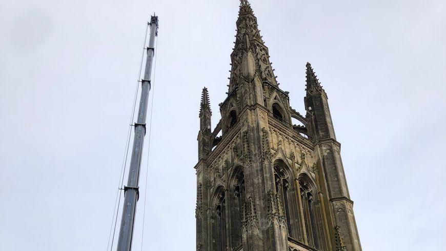 La flêche de l'Eglise Saint Jean atteint 73 mètres de haut