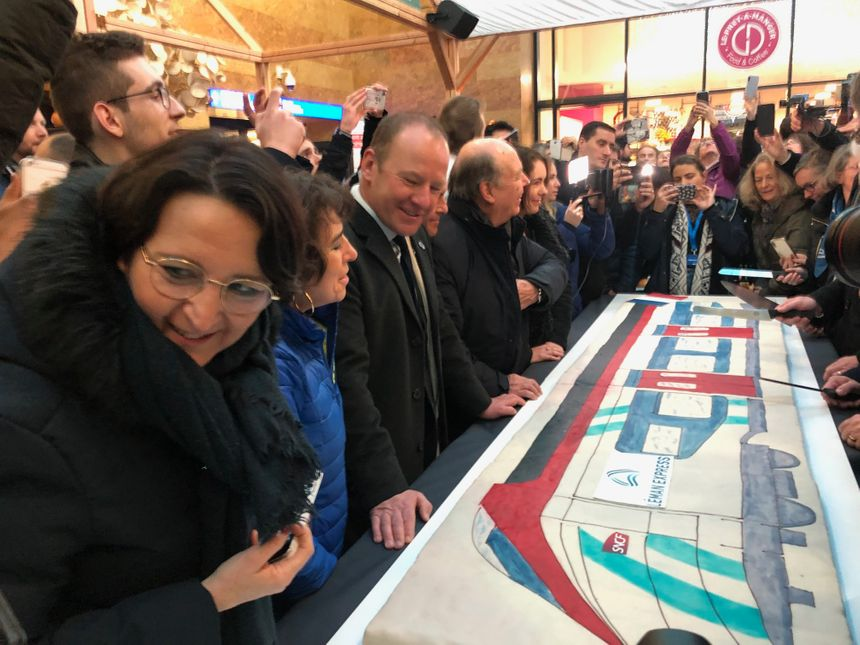 Serge Dal Bosco, conseiller d'Etat du canton de Genève en gare de Cornavin à Genève.