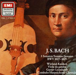 Sonate n°3 en sol min BWV 1029 : Adagio - pour viole de gambe et basse continue - WIELAND KUIJKEN