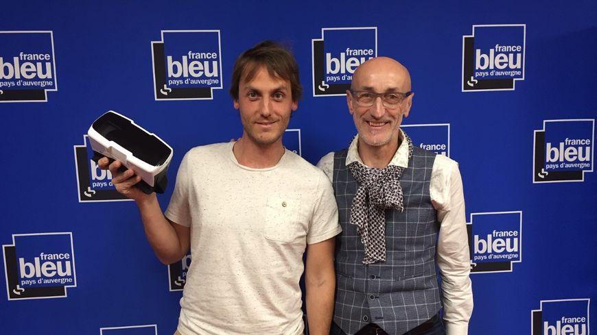 De g. à d. : Antoine Bonnefille-Roualet et Lionel Paris
