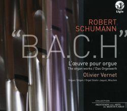 6 fugues sur le nom de Bach op 60 ( intégrale ) : Fugue sur le nom de Bach op 60 n°5 - pour piano à pédalier / arrangement pour orgue - OLIVIER VERNET