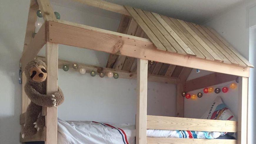 Le lit-cabane conçu par Guillaume Crnkovic