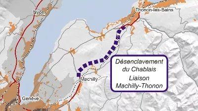Le projet consiste en une autoroute à deux fois deux voies de 16,5 km pour relier l'A 40 au sud d'Annemasse à Thonon-les-Bains -