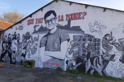Une fresque à la mémoire de Steve Maia Caniço.