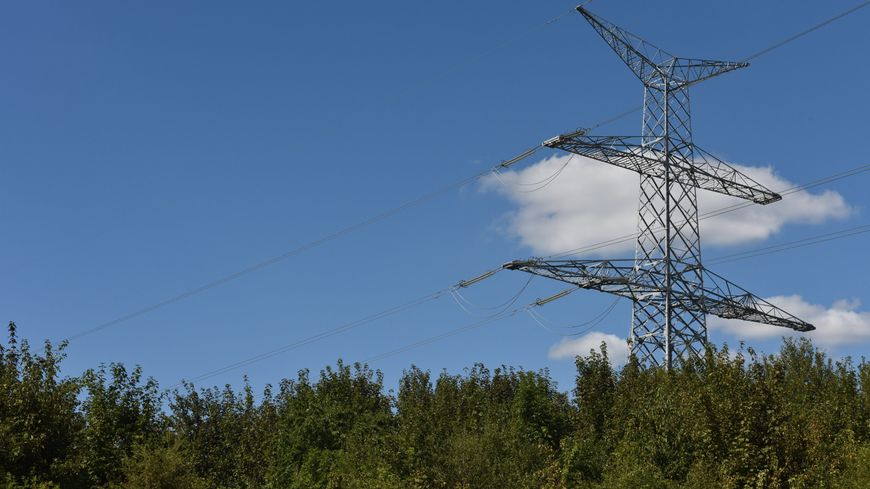 Pylône électrique illustration