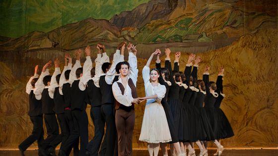 """Le ballet de l'Opéra de Lyon dans """"l'Arlésienne"""" de Roland Petit en 2015"""