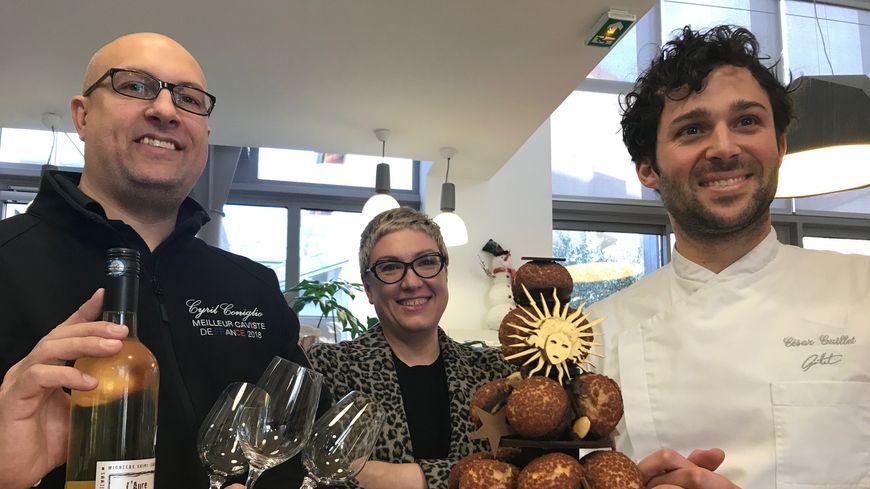 Cyril Coniglio, Julie Haubourdin et César Guillet
