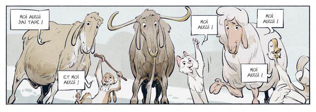 """Le dessin de Félix Delep tiré du  """"Château des animaux"""", Tome 1, Miss Bengalore, avec Xavier Dorison chez Casterman"""