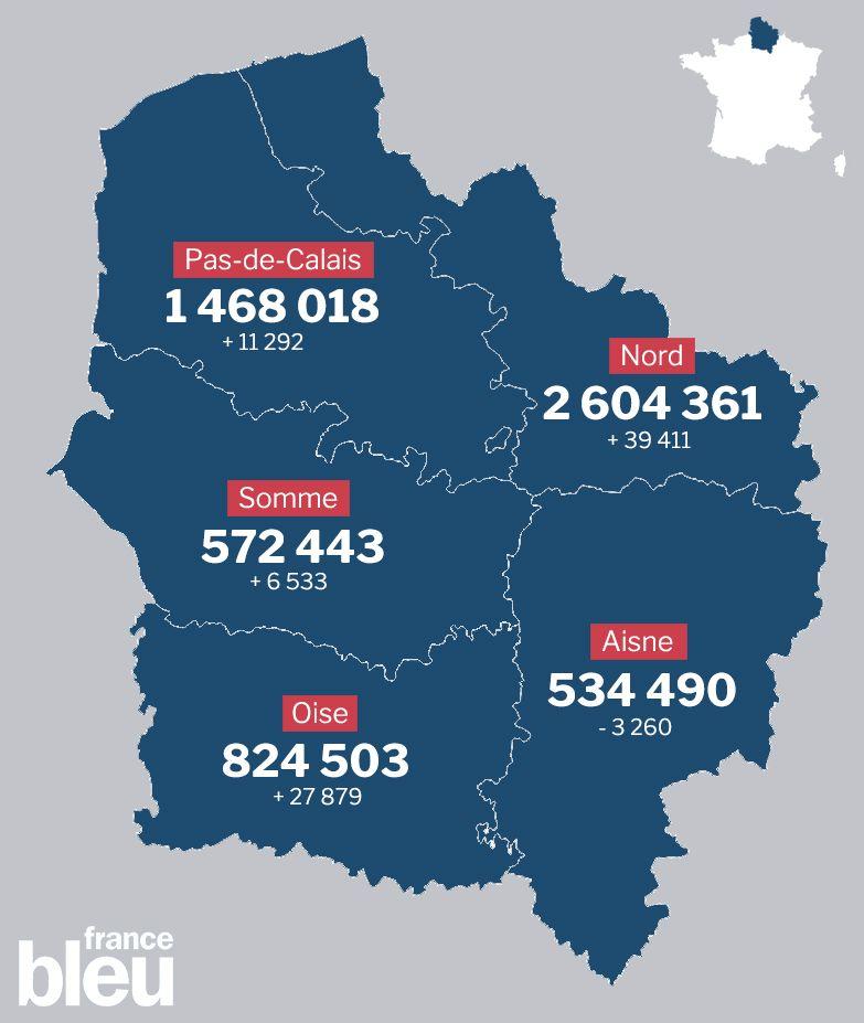 La population au 1er janvier 2017, département par département