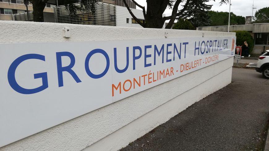 L'entrée de l'hôpital de Montélimar