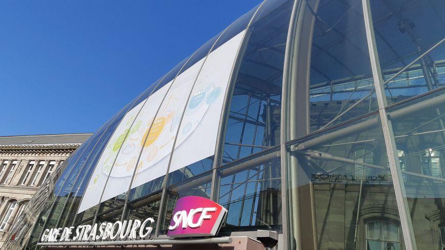 Batiment extérieur de la gare de Strasbourg (illustration)