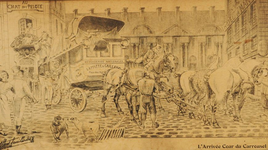 Recherche de nouveaux documents, l'arrivée Cour du Carrousel 1820
