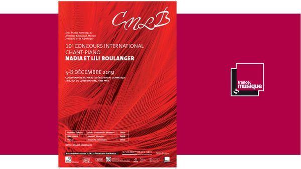 Palmarès du 10e Concours International de chant-piano Nadia et Lili Boulanger