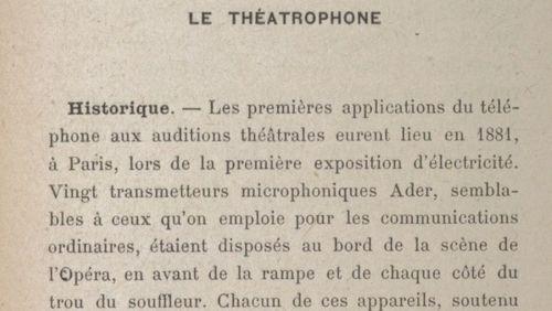 """La Nuit des feuilletons 1/2 (1/13) : """"Les dramatiques radiophoniques sont nées avant la radio grâce au Théâtrophone, en 1881"""""""
