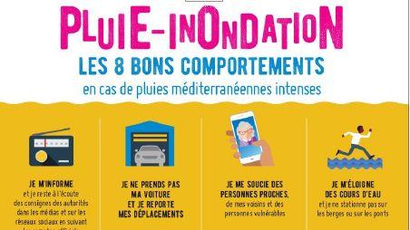 La préfecture des Alpes-Maritimes appelle à la prudence en cas d'intempéries