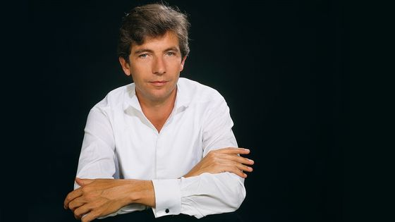 Le pianiste Jean-Philippe Collard photographié en 1985